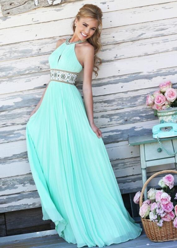 Фото летних длинных вечерних платьев
