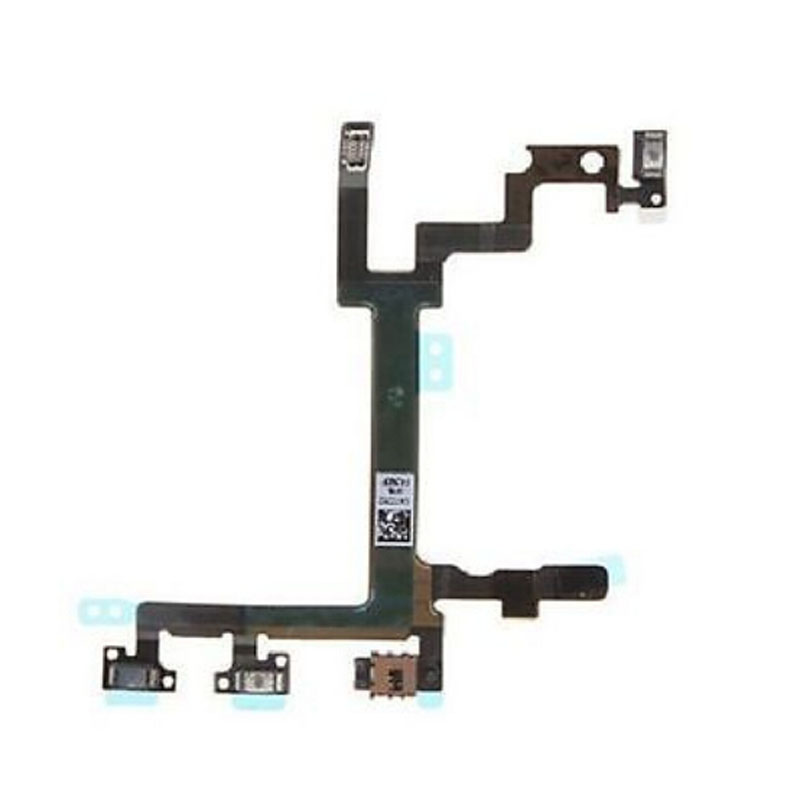 Genuine Power Mute Volume Control Button Switch Connector Flex Cable for iPhone 5(China (Mainland))