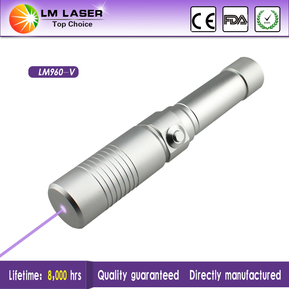 Focusable High Power Violet Laser Pointer 500mW 405nm Laser Flashlight With Safty Keys Rechargeable(China (Mainland))