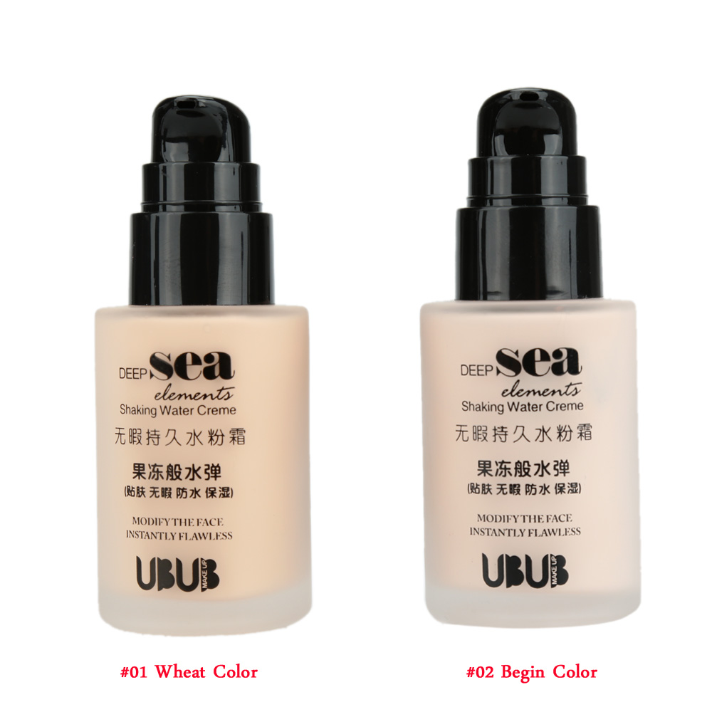 UBUB Face Liquid Foundation BB Cream Shaking Waterproof BB Cream Brand Makeup Cosmetic(China (Mainland))