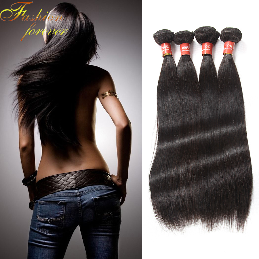 Rosa Hair Products Brazilian Virgin Hair Straight 4pcs/lot,Brazilian Virgin Straight Hair Bundles ,Straight Hair Extensions