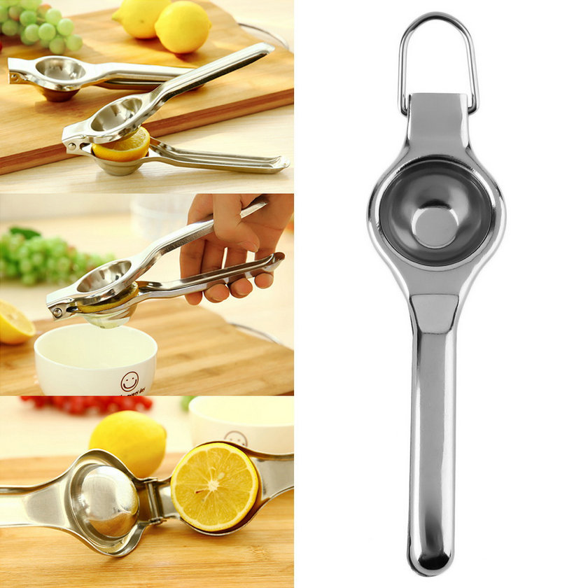Kitchen Bar Stainless Steel Lemon Orange Lime Squeezer Juicer Hand Press Tool Promotion!(China (Mainland))