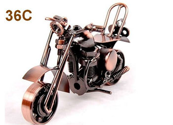 Pure handmade wrought iron motorcycle furnishing articles models place adorn have chair , metal crafts ornament gift bike 36C