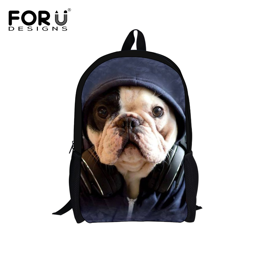 3D Animals Owl Printing Backpack Children Backpacks,Pet French Bulldog School Bags Men's Travel Bag,Kids Bagpack Boys Book Bags(China (Mainland))