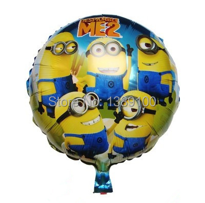 Cartoon Classic Toy Happy Birthday Decoration Minion inflavel Balloon Despicable Me 2 for Wedding Party Supplies Ballon bolas(China (Mainland))