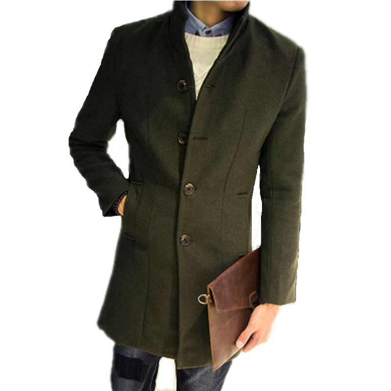 Popular Mens Woolen Coats and Jackets-Buy Cheap Mens Woolen Coats ...