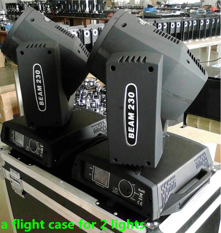 Hot 2pcs/lot with a flight case for 2 lights Sharpy Beam 230W 7r Moving Head Light Moving head beam light for nightclub parties(China (Mainland))