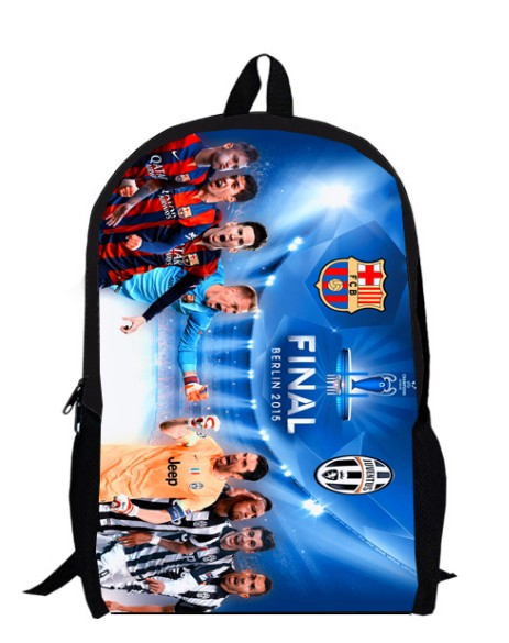 12inch Football Star Backpack For Boys Kids Soccer primary School Bags Girls Sport Champions League men women custom made 4(China (Mainland))