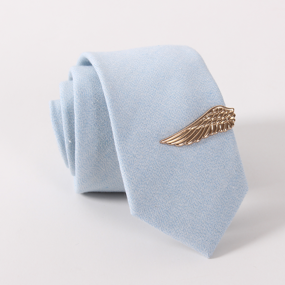Fashion Gold Plated Angel Wing Shape Tie Bar Clips for Men Tie Bars Exquisite Wedding Glasses Tie Clips for Men Fashion Jewelry(China (Mainland))