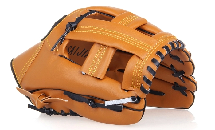 Brand New OSJ Baseball Softball Glove Outfield PVC Size 10.5 11.5 12.5 Left Hand RHT Soft Light for Adult Training Brown(China (Mainland))