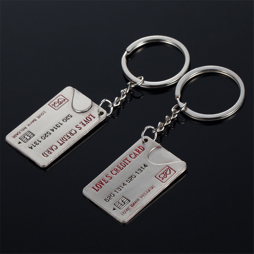 Couple accessories letter keychain material love keychain for women bag accessories interesting things lover keychain for car