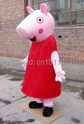 High quality pink pig mascot costume for adult fancy dress charactor party pig mascot costume fast