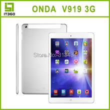 Onda V919 Quad Core 3G Phone Call Tablet PC 9.7 inch Android 4.2 MTK8382 1GB/16GB Dual Cameras Bluetooth GPS  free shipping