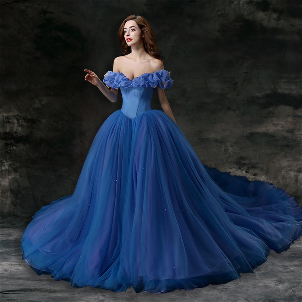 Wedding Dresses In Royal Blue : Tulle elegant plus size royal blue wedding dress formal gowns