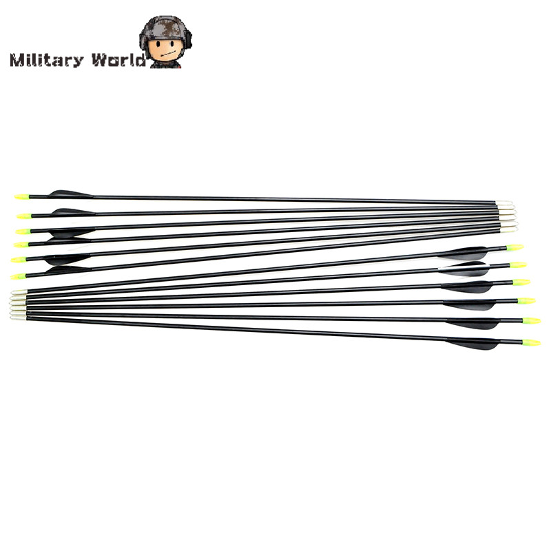 12pcs pack Shooting Lightweight 80cm Length 15 80lbs Arrows For Compound Bow Recurve Bow Outdoor Archery