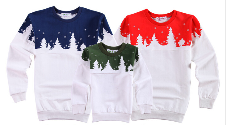 Free Shipping 2015 Family Christmas Cotton Warm Autumn Winter Mother Dad And Kids Long-Sleeve T-shirt Family Clothes Set  HTB1.5d5JVXXXXatXXXXq6xXFXXXF