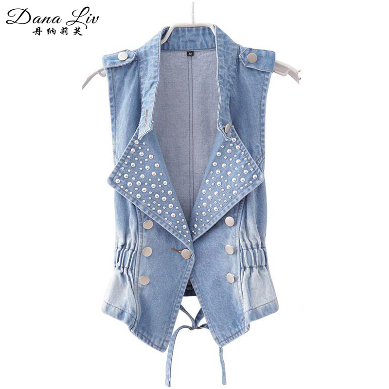 denim vests supernova sale spring -summer vest new 2016 blue jean jackets women clothing coats woman - China's good product store