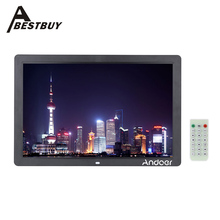 """17"""" High Resolution LED Digital Photo Frame 1440*900 Scroll Caption 1080P Picture Frame Alarm Clock MP3 MP4 with Remote Control(China (Mainland))"""
