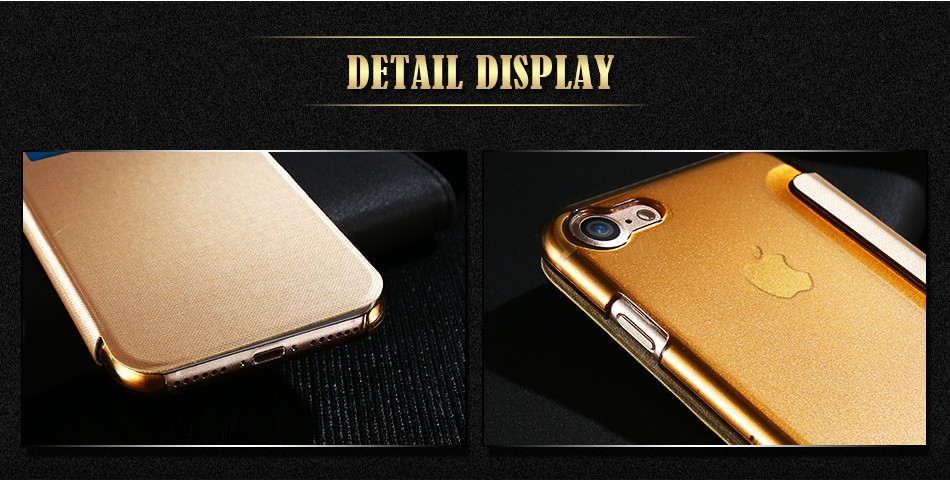 i7 Plus Phone Cover Stylish Flip Wallet Case For Apple iPhone 7 Plus Coque Protector Window View Cover Fitted Pouch Accessories