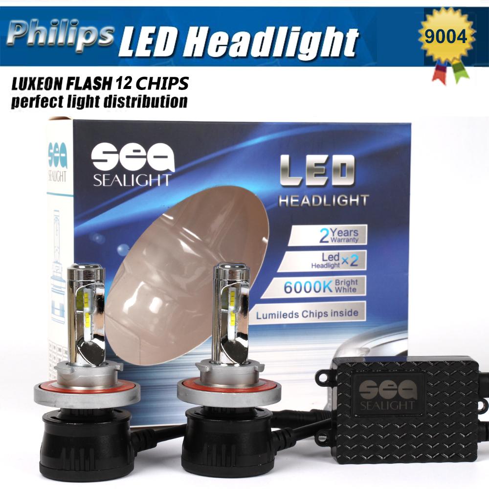 1Set 12000LM 96W P hilips Chips Led Headlight Lamp Hi/Lo Auto 9004 Led Car Headlight Bulbs HB1 HB5 9007 Led Headlight Bulb(China (Mainland))