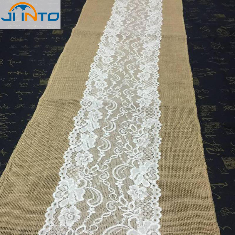 275cm*30cm Jute Lace Dentelle Table Runners Party Banquet Linen Fabrics Wedding Decoration Casamento(China (Mainland))