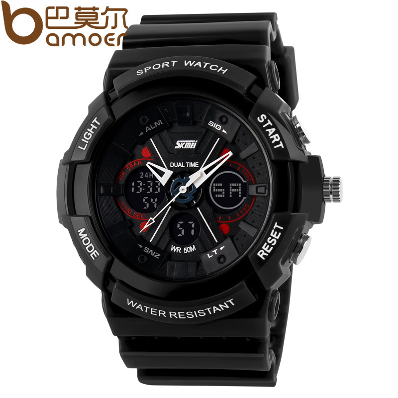 New Arrival Sport Stop Watch For Men Back Light Quartz Silicone Japanese Movement SKMEI Wristwatch WA3004(China (Mainland))
