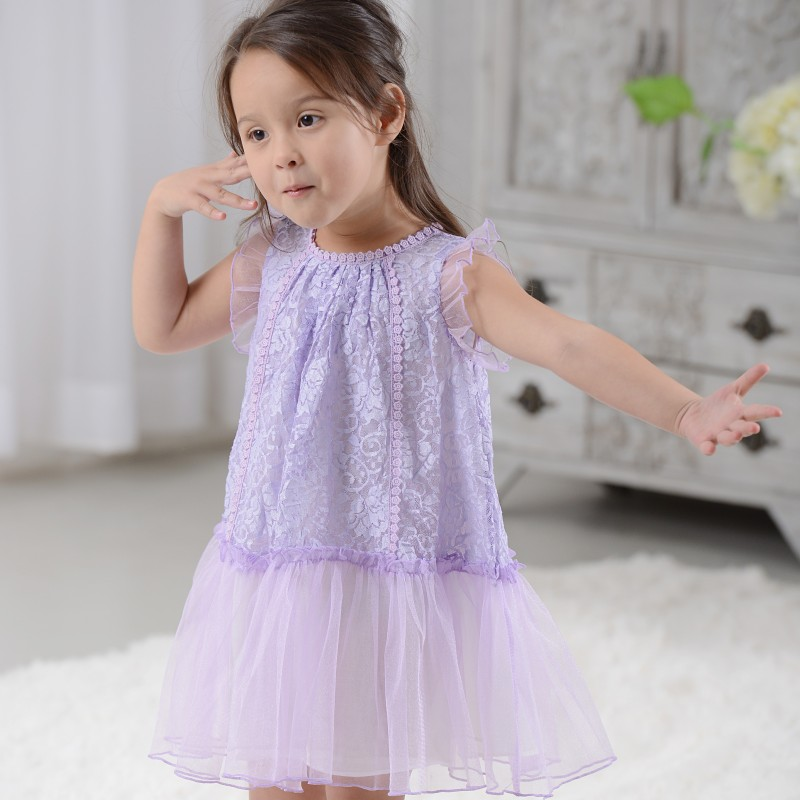 AD 5pcs/lot Beautiful Girls Dress for Summer Mesh Fairy Design Dress Kids Children's Clothing(China (Mainland))