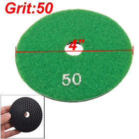 "2 Pcs 4"" Granite Stone Concrete Wet Dry Diamond Polishing Pad 1/5"" Thick 50 Grit(China (Mainland))"