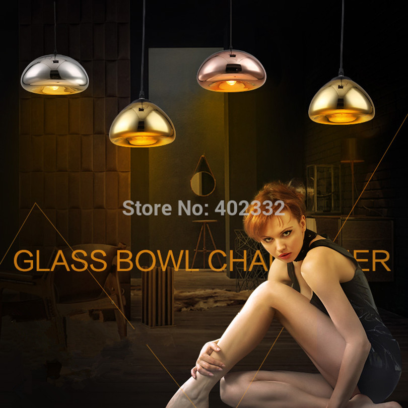 2015 Modern Simple Plated Led Pendant Light European Ikea Glass Stone Pendant Light With LED Chips<br><br>Aliexpress