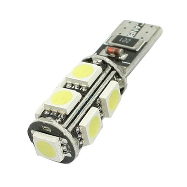 Newest Arrive 10 Pcs T10 W5W White 9 5050 SMD LED Can bus Car light Bulb(China (Mainland))