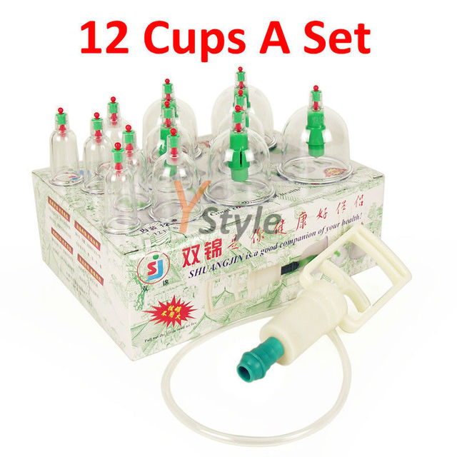 Free Shipping 12 Cups Traditional Chinese Medical Cupping Set IN PROMOTION ShuangJin Brand High Quality Cupping Kit