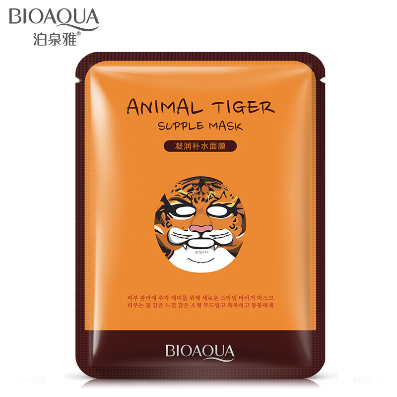 Skin Care Tiger Packing Facial whitening mask Moisture Hydrating Nourishing Cute Animal Face Masks for facial treatment essence(China (Mainland))