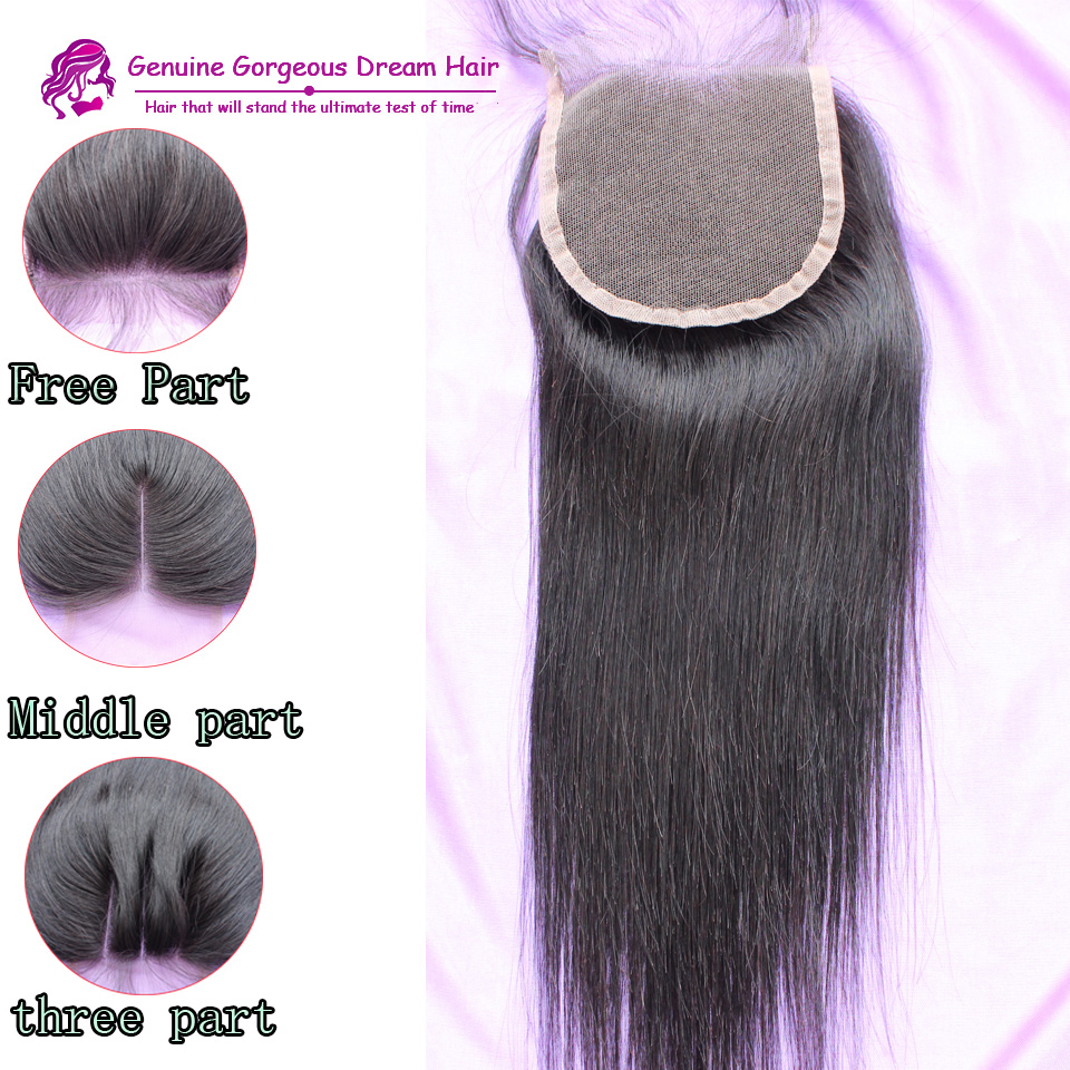 Fedex Fast Shipping Virgin Brazilian Human Hair Natural Straight Swiss Lace Top Closure With Baby Hair<br><br>Aliexpress