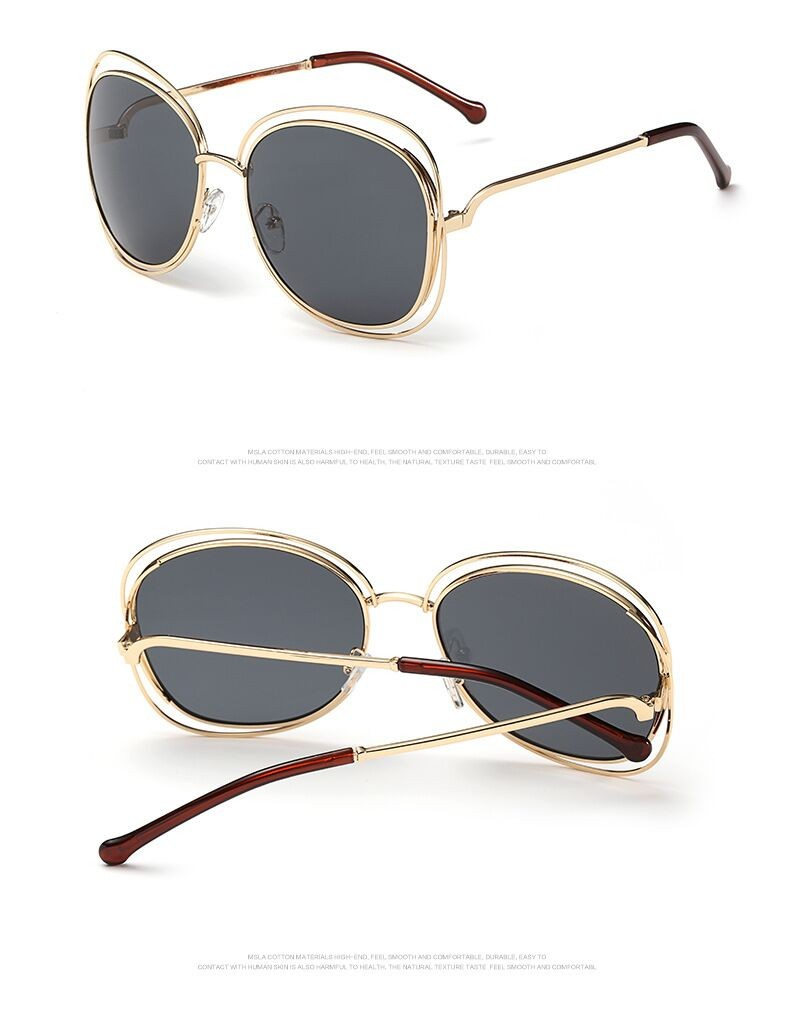 Ladies Sunglasses Women oval 2016 Fashion Vintage Brand Designer Female Retro Sun Glasses for Women oculos De Sol Feminino