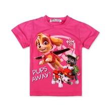 Baby Clothes Girl Summer Fashion Cartoon Dog Short Sleeve T Shirt Children Clothing Paw Dogs Girls T Shirt Patrol