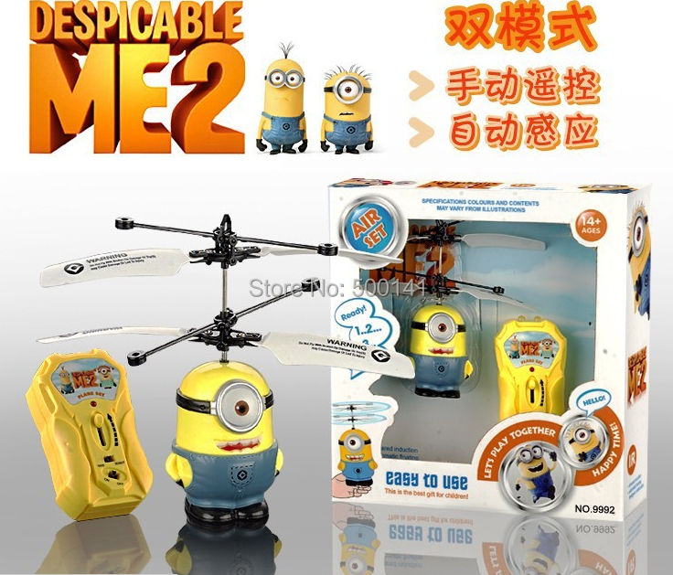 Hot sales despicable 2 minion toys / rc helicopter Children's gifts remote control aircraft flying toys, - Syllable Electronics Co., Ltd. store