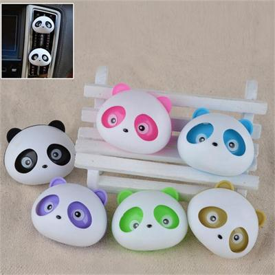 Cute 2Pcs Cute Panda Animal Car Air Freshener Pulg in Air-conditioning Outlet 5 Colors Fragrance For Auto Interior Decoration(China (Mainland))