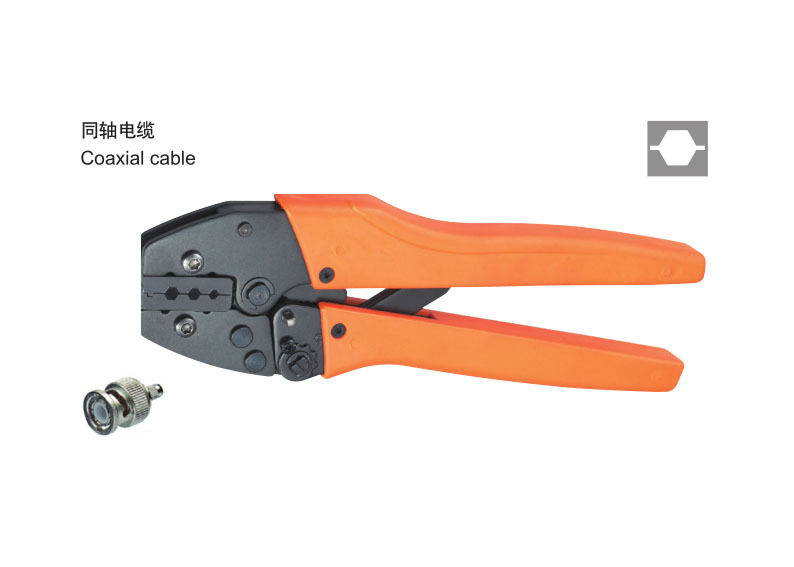 Ratchet crimping plier 4.5,4,3mm2 BNC Dedicated cable connector crimping tool(China (Mainland))
