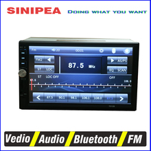 EANOP 7 inch TFT Screen Bluetooth Car Audio Stereo Mp5 Player 12V 2 Din Support Aux FM USB SD MMC for Charger with Rearview(China (Mainland))