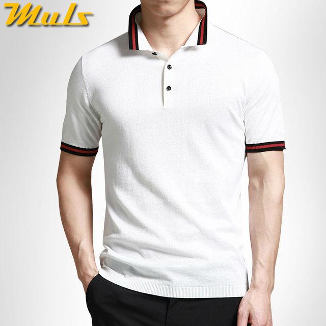 3 цветов мужская рубашка свитера лето быстро сухой хлопка вязать с коротким рукавом ...