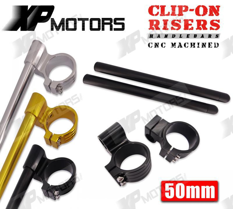 New Motorcycle 50mm Billet 1 Raised Clip On Handlebar For Yamaha FZ6 2004 2005 2006 2007