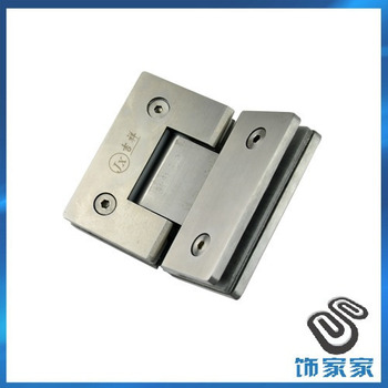 Free shipping 804 pure stainless steel Large square bathroom glass hinge glass clamp 135 hinge