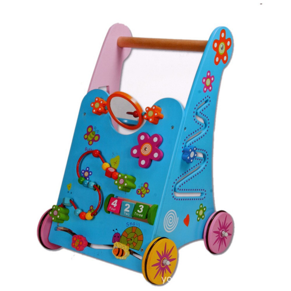 Baby Toys Wooden Toddler Stroller Children Multipurpose ...