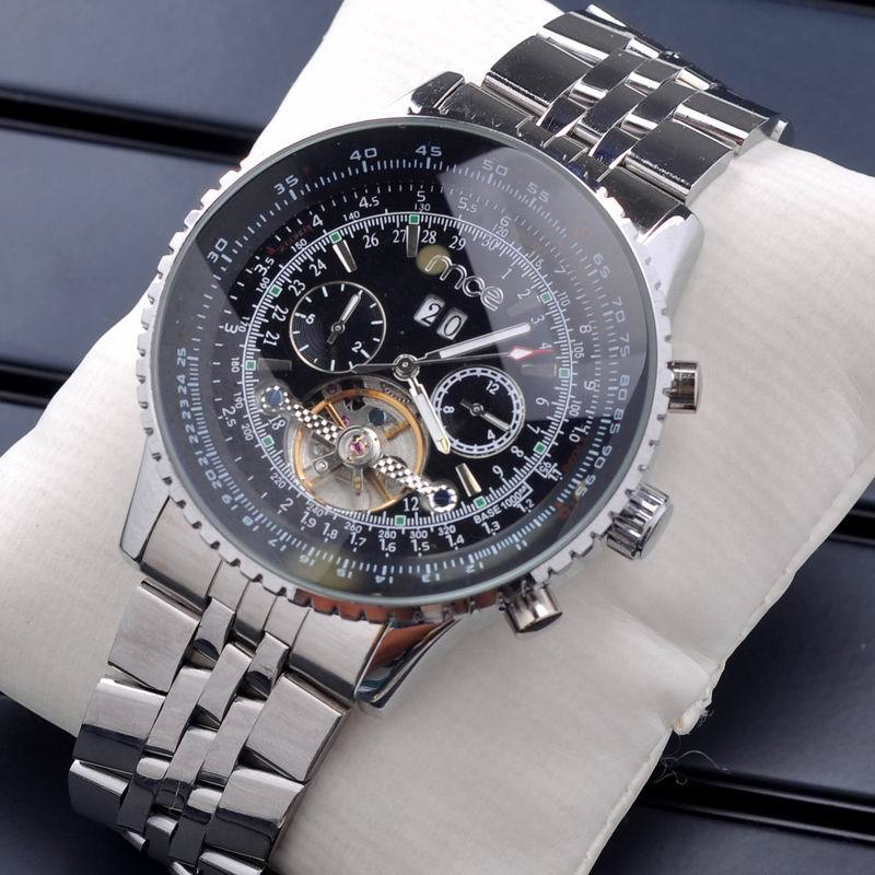 New Style Men Multi-Function Dial Full Steel Mechanical Watches Male Business Dress Sports Hand Wind Wristwatch Gold Silver<br><br>Aliexpress
