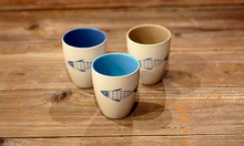 Zakka Japanese flavor fish ocean wind painted ceramic cup cup Coffee cup can be microwave multi-color optional