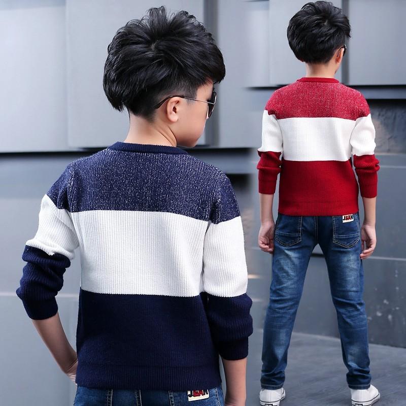 Скидки на Мальчики свитер вязание детские хлопчатобумажные трикотажные свитера осень детей пальто случайный мальчик вязаный свитер зимой