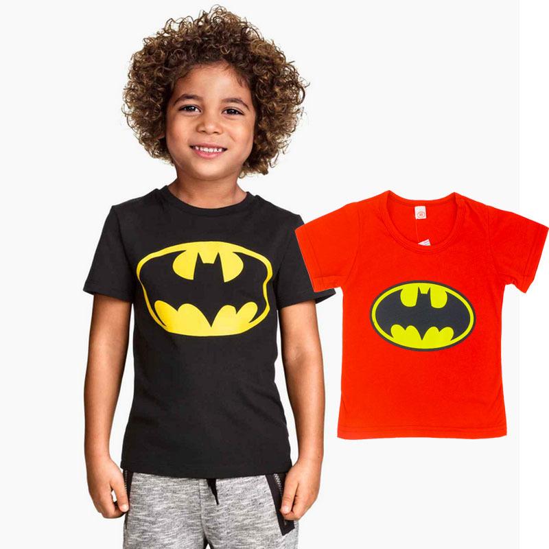 2015 Children T Shirt Batman Cotton Short Sleeve T-Shirts For Boys Cartoon Print Boys Tee Fashion Kids Tshirt Tops Boys Clothing(China (Mainland))