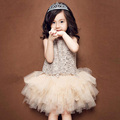 Birthday Dress for Girls Princess Ballerina Party Flower Girl Dress Princess Wedding Party Dress flower lace