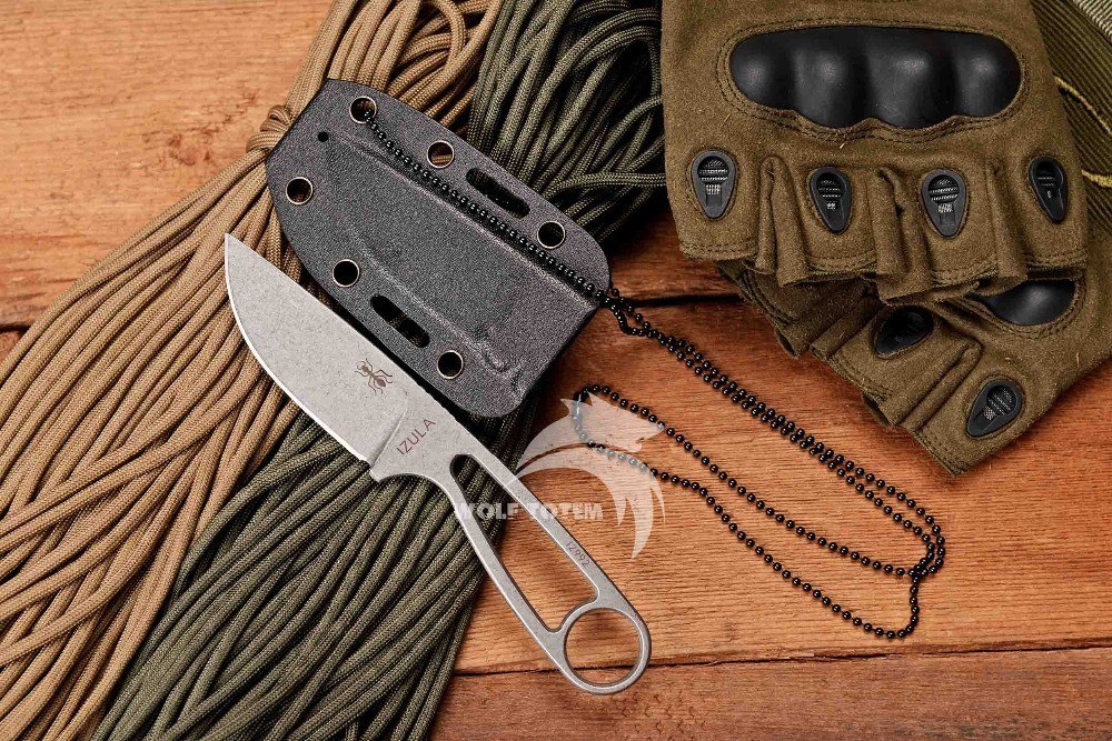 Buy WTT Ant Small Straight Knife D2 Blade Full Steel Fixed Tactical Knife Survival Hunting Knives Pocket Outdoor Camping Multi Tools cheap