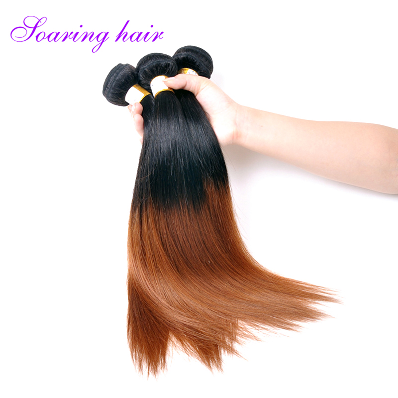 7A Indian Virgin Hair Straight 3Bundles 1B 30 Ombre Hair Unprocessed Human Hair Straight Top Quality Indian Human Hair Weave <br><br>Aliexpress